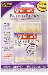 The Doctor's BrushPicks Toothpicks, 250 Picks (Pack of 12)