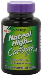 Natrol High Caffeine 200mg Tablets, 100-Count