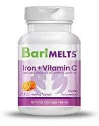 BariMelts Iron + Vitamin C Bariatric Vitamins