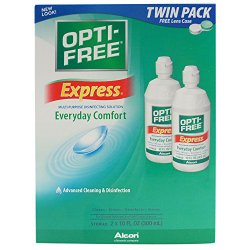 Opti-Free Express Multi-purpose Disinfecting Solution, 2-Count, 10-Ounce Bottles
