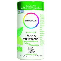 Rainbow Light, Men's Organic Multivitamin, 120 count – Package May Vary