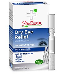 Similasan Preservative-Free Dry Eye Relief Eye Drops, .014-Ounce Single-Use Droppers in 20-Count Boxes