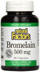 Natural Factors Bromelain 500mg Capsules, 90-Count