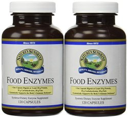 Nature's Sunshine Food Enzymes Supports Digestive System 120 Capsules (Pack of 2)
