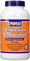 Now Foods Magnesium Bisglycinate Powder, 8 Ounce
