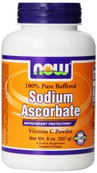 NOW Foods Sodium Ascorbate, 119 Servings,  8 Ounce