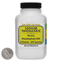 Sodium Thiosulfate [Na2S2O3] 99% ACS Grade Powder 8 Oz in a Space-Saver Bottle USA