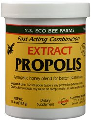YS bee Farms – Propolis Extract in Honey – 11.4 oz