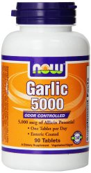 Now Foods Garlic 5000 Tablets, 90 Count