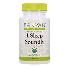 Banyan Botanicals I Sleep Soundly – Certified Organic, 90 Tablets – Promotes Sound Restful Sleep