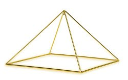 Finest Quality 51 Degree 9″ 24k Gold-plated Copper Meditation Pyramid for Healing