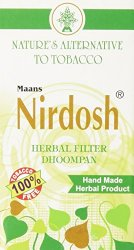 NIRDOSH HERBAL FILTER DHOOMPAN – Pack of 10 Cigs – Made with Ayurvedic Herbs