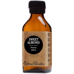 Sweet Almond 100% Pure Carrier/ Base Oil- 3.4 oz (100 ml) by Edens Garden