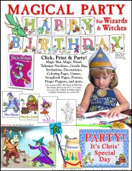 ScrapSMART – Magical Party for Wizards and Witches Party Software Kit – Jpeg, PDF, and Microsoft Word Files [Download]