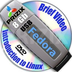 Fedora 23 on 8gb USB Stick Flash Drive and Complete 3-discs DVD Installation and Reference Set, 32 and 64-bit