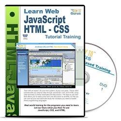 HTML, JavaScript, CSS Tutorial Training Course on 1 DVD