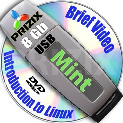 Mint Cinnamon 17 on 8gb USB Flash and Complete 3-disks DVD Installation and Reference Set, 32 and 64-bit