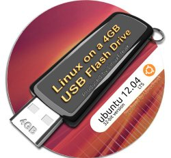 Ubuntu 12.04 on 8gb USB Stick Flash Drive, plus CD and Quick-Reference Guide