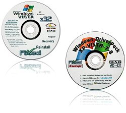WINDOWS Vista x32/32 ALL VERSIONS bit Repair/Recovery/Restore Boot Disc ~Fix PC~ Complete w/Updated Drivers Disc ~Full Support Included~ SATISFACTION GUARANTEED or YOUR MONEY BACK!!!