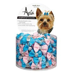 Aria DT056 99 100-Piece Maddie Hair Bow Canister