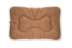 Best Pet Supplies Crate Mat, Medium, Light Brown Suede