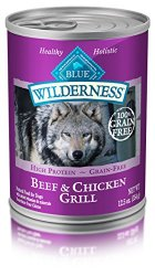 Blue Buffalo Wilderness Beef & Chicken Grill – Grain Free 12.5 oz, Pack of 12