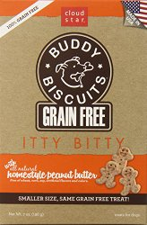 Cloud Star Grain Free Itty Bitty Buddy Biscuits in a Bag, 7-Ounce , Homestyle Peanut Butter