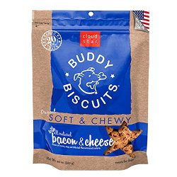 Cloud Star Original Soft and Chewy Buddy Biscuit, 20-Ounce, Bacon/Cheese