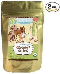 CoCoTherapy Coconut Chips – 6 oz, (Pack of 2)