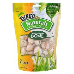 Dingo Naturals Mini Bones, 21-Count