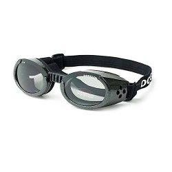 Doggles ILS Medium Metallic Black Frame and Smoke Lens