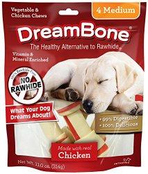 DreamBone Chicken Dog Chew, Medium, 4-count