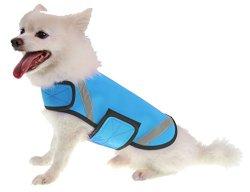 Extreme Neoprene Multi-Purpose Protective Shell Dog Coat, Blue, XS
