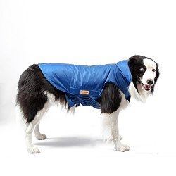 Funkeen Pet Apparel Waterproof Warm Dog Jacket Winter Coat with Harness Hole + Reflective Strips for Small Puppy – Medium Large Dogs