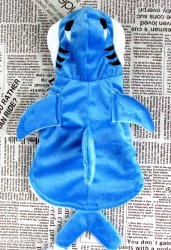 Genda 2Archer Adorable Blue Shark Pet Costume Hoodie Coat for Dogs and Cats