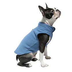 Gooby Every Day Fleece Cold Weather Dog Vest for Small Dogs, Blue, Medium
