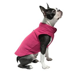 Gooby Every Day Fleece Cold Weather Dog Vest for Small Dogs, Fuchsia, Medium