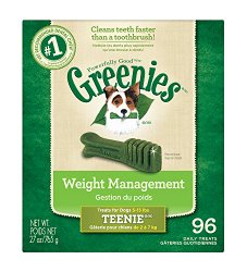 GREENIES Weight Management Dental Chews TEENIE Dog Treats – 27 oz. 96 Count