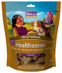 Halo Healthsome dog biscuits peanut 'n pumpkin, 8-Ounce