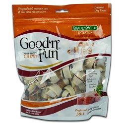 Healthy Hide Good 'n' Fun 18-Pack Triple Flavor Chews, Mini Bones
