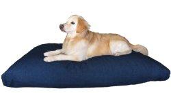 Heavy Duty Overstuffed XXXLarge Orthopedic Memory Mix Foam Pet Bed Waterproof Pillow with Washable Denim Cover 55″X47″