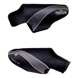 Helios Octane Softshell Neoprene Satin Reflective Dog Jacket w/ Blackshark technology, Blue, Grey, LG