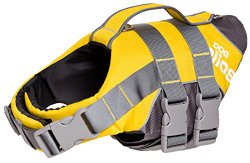 Helios Splash-Explore Outer Performance 3M Reflective and Adjustable Buoyant Dog Harness and Life Jacket, Yellow, LG