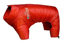 Helios Thunder-crackle Full-Body Waded-Plush Adjustable and 3M Reflective Dog Jacket, Grenadine Red, LG