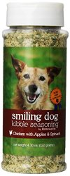 Herbsmith Smiling Dog Freeze Dried Kibble Seasoning with Chicken, Apples and Spinach for Dogs and Cats