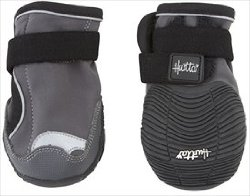 Hurtta Pet Collection Outback Boots for Dogs (2 Pack), 1 1/4″, Granite