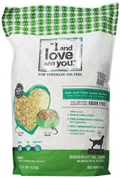 I and Love and You, In the Raw Homemade Dog Food, Raw Raw Lamb Boom Ba Dinner, 5.5Lbs.