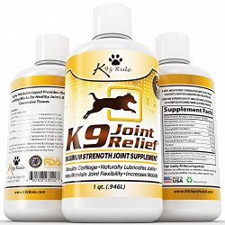K9 Joint Relief, Liquid Glucosamine for Dogs, Relieves Hip and Joint Pain, 32 Ounce
