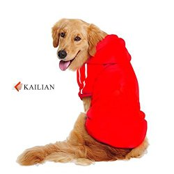 Kailian ® New Autumn and Winter Medium Dogs and Big Dogs Sports Hoodies, Dog Coats,Dog Sweater(Red,5XL)