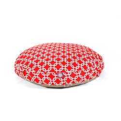 Majestic Pet Red Links Round Pet Bed, Large
